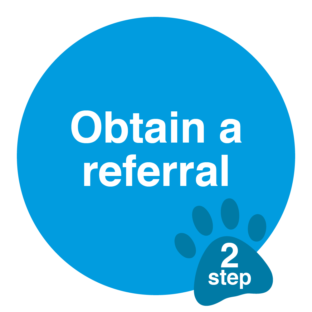 obtain a referral sticker