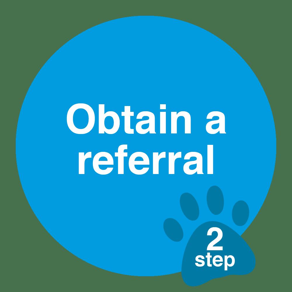 obtain a referral sticker