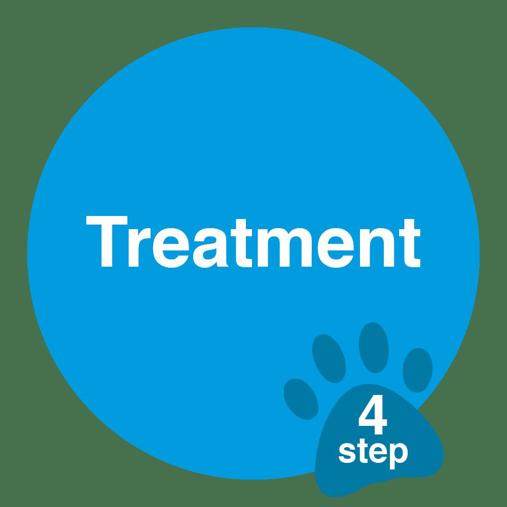 vet treatment sticker