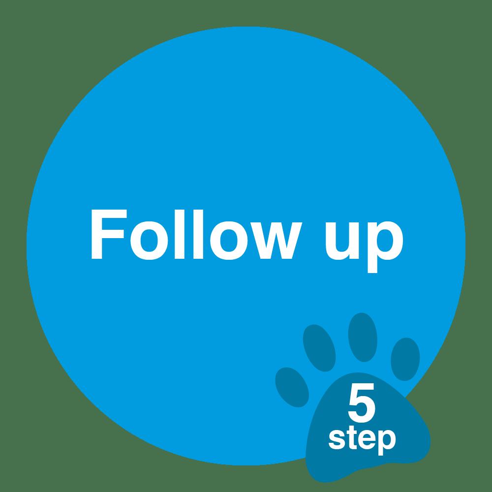 vet follow up sticker